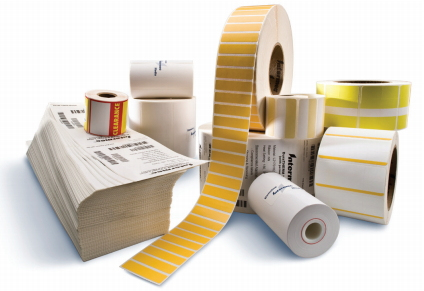 Intermec Duratran IIE Thermal Transfer Paper Labels, 63.5W x 25.4L, Permanent adhesive, 76 mm core, 190 mm OD,5330 labels per roll, 8 rolls per carton, for industrial printers, pair with TMX2010 ribbon