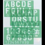 Linex 100411050 stencil Green Polypropylene Letter, number & symbol stencil