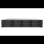 QNAP TS-1273AU-RP-8G data-opslag-server NAS Rack (2U) Ethernet LAN Zwart, Grijs V1500B