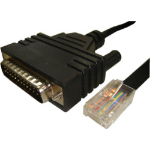 Cisco CAB-CONAUX= serial cable Black 1.8 m DB25 RJ-45