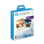 HP Social Media Snapshots Removable Sticky Photo Paper-25 sht/10 x 13 cm Semi-gloss White W2G60A