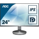 "AOC Value-line I2490VXQ/BT computer monitor 60.5 cm (23.8"") 1920 x 1080 pixels Full HD LED Flat Grey"