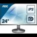 """AOC Value-line I2490VXQ/BT computer monitor 60.5 cm (23.8"""") Full HD LED Flat Grey"""
