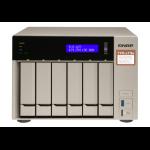 QNAP TVS-673E Ethernet LAN Toren Grijs NAS