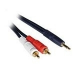 C2G 3m Velocity 3.5mm Stereo Male to Dual RCA Male Y-Cable 3m 3.5mm 2 x RCA Black
