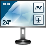 "AOC Pro-line I2490PXQU/BT computer monitor 60.5 cm (23.8"") 1920 x 1080 pixels Full HD LED Grey"