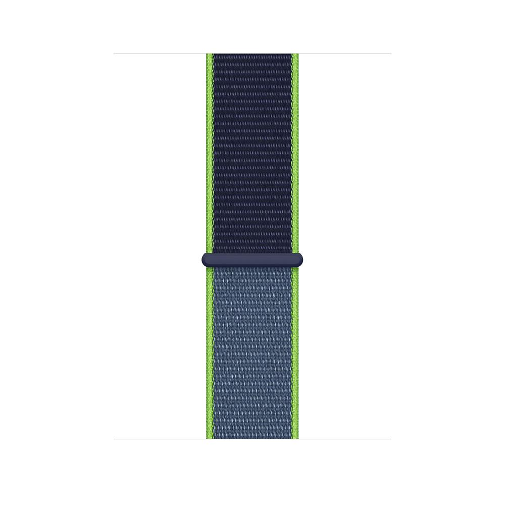 Apple MXMV2ZM/A smartwatch accessory Band Blue,Lime Nylon