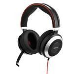 Jabra EVOLVE 80 Stereo Binaural Head-band Black,Silver headset