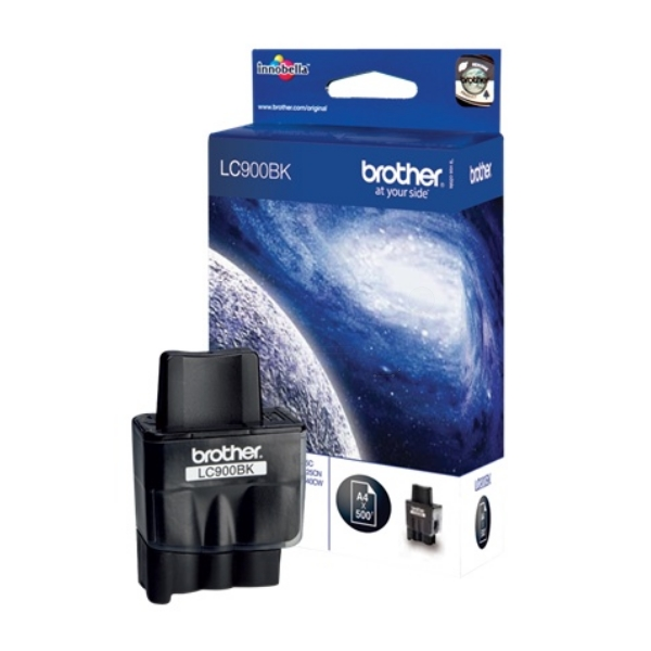 Brother LC-900BK Ink cartridge black, 500 pages @ 5% coverage, 9ml