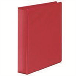 White Box WB PRES BINDER 4 D RING RED 25MM