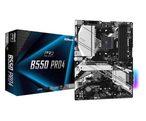 Asrock B550 Pro4 AMD B550 Socket AM4 ATX