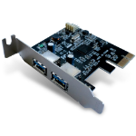 Dynamode USB 3.0 PCI-E Adapter Card with Low Profile Bracket, 2-Port (USB-2PCI-3.0-LP)