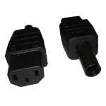 Videk 2196A C13 3P Black electrical power plug