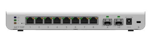 Netgear GC110P Managed Gigabit Ethernet (10/100/1000) Power over Ethernet (PoE) Grey