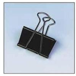 Unbranded Foldback Clip 19mm Black Pack 100