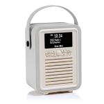 ViewQwest Retro Mini radio Portable Digital Grey,White