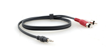 Kramer Electronics 3.5mm - 2 RCA, 0.9m audio cable Black,Red,White