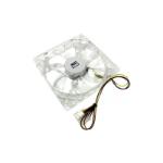 LMS 12cm Translucent LED Enhanced PC Case Fan, 4-Pin/3-Pin, Green LED (FAN-12-GN)