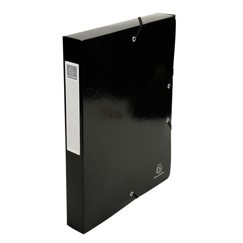 Iderama Filing Box 40mm Spine Black PK8