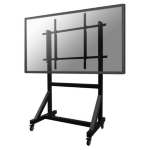 "Newstar PLASMA-M3000E 100"" Portable Black flat panel floorstand"