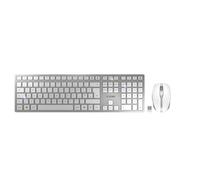CHERRY DW 9000 SLIM keyboard RF Wireless + Bluetooth UK English Silver,White