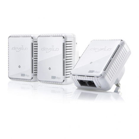 Devolo dLAN 500 duo, Network Kit 500Mbit/s Ethernet LAN White 3pc(s) PowerLine network adapter