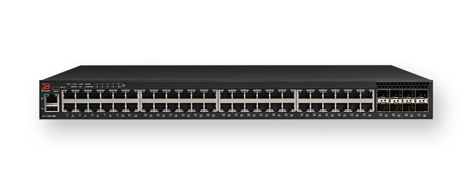 Brocade ICX7250-48P-2X10G Managed L3 Gigabit Ethernet (10/100/1000) Power over Ethernet (PoE) 1U Black network switch