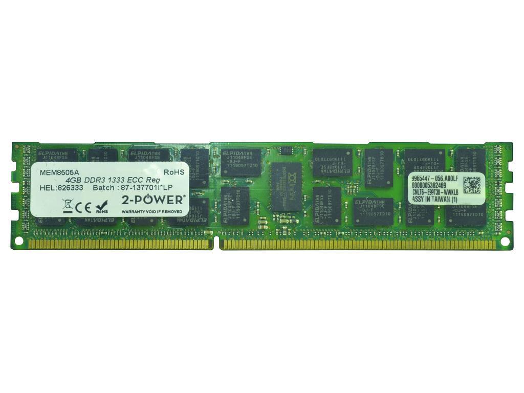 2-Power 4GB DDR3 1333MHz ECC RDIMM Memory - replaces 03X3811