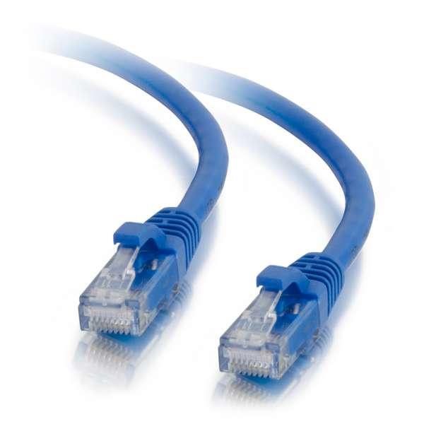 C2G Cable de conexión de red LSZH UTP, Cat5E, de 0,5 m - Azul