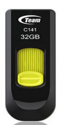 Team Group C141 USB flash drive 32 GB USB Type-A 2.0 Black,Yellow