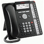 Avaya 1616-I Wired handset 4lines LCD Black