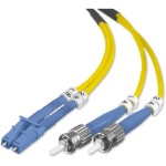 "Belkin 5m LC-ST fiber optic cable 196.9"" (5 m) Yellow"