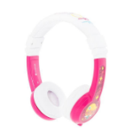 onanoff BuddyPhones Explore Foldable Head-band Binaural Wired Pink, White mobile headset
