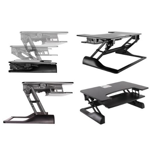 Newstar Sit-Stand Desktop Workstation - Black