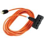 Black Box EPWR42 Indoor/Outdoor 3AC outlet(s) 7.63m Black, Orange power extension