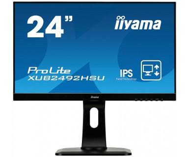 "iiyama ProLite XUB2492HSU-B1 23.8"" Full HD LED Matt Flat Black computer monitor LED display"