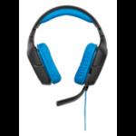 Logitech G430 Binaural Head-band Black,Blue headset