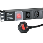 Cablenet 10 Way IEC - C13 Horizontal 1u PDU with UK 3m Feed