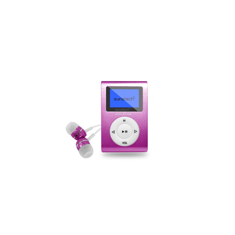 Sunstech DEDALOIII Reproductor de MP3 Rosa 4 GB