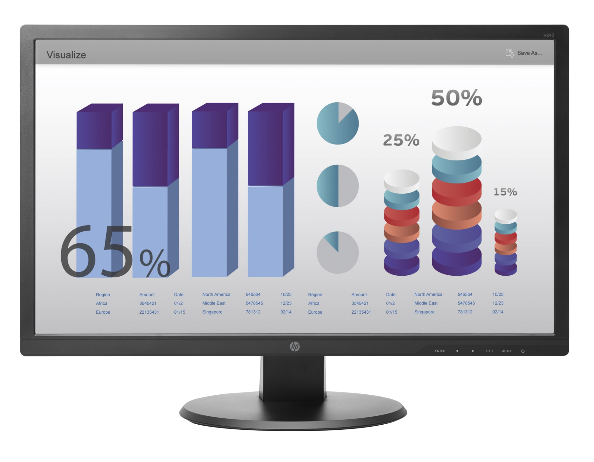 "HP V243 60,96 cm (24"") Monitor"