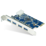 Astrotek 4x Ports USB 3.0 PCIe PCI Express Add-on Card Adapter 5Gbps Windows XP/7/8/10 Server 2008 & later Re