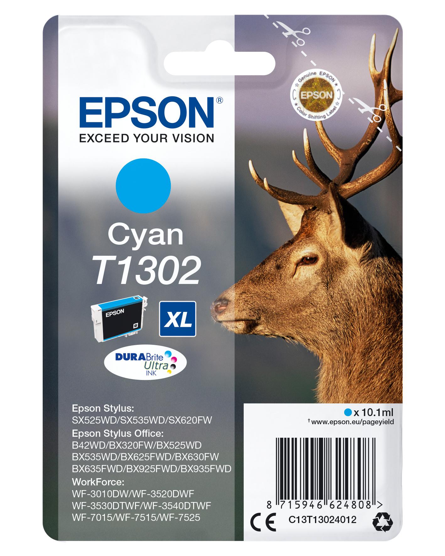 Epson Stag Cartucho T1302 cian