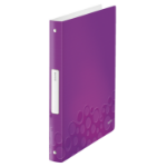 Leitz WOW ring binder A4 Metallic, Purple