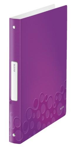 Leitz WOW ring binder A4 Metallic, Purple