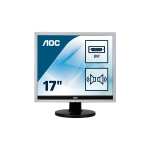 "AOC Essential-line E719SDA LED display 43,2 cm (17"") SXGA LCD Plana Mate Negro"