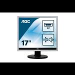 "AOC Essential-line E719SDA LED display 43.2 cm (17"") 1280 x 1024 pixels SXGA LCD Flat Matt Silver"