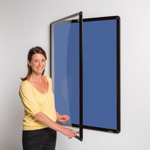 Metroplan Shield Design insert notice board Indoor Black, Blue Aluminium