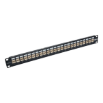 Tripp Lite 24-Port 1U Rack-Mount STP Shielded Cat6a Feedthrough Patch Panel w/90-Degree Down-Angled Ports, RJ45 Ethernet