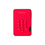 iStorage diskAshur 2 500GB Red external hard drive