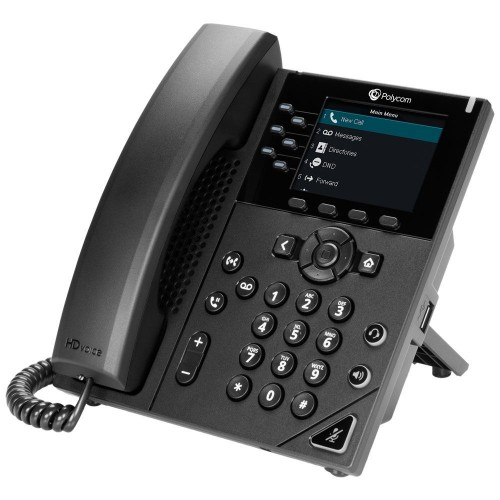 POLY VVX 350 IP phone Black Wired handset LCD 6 lines
